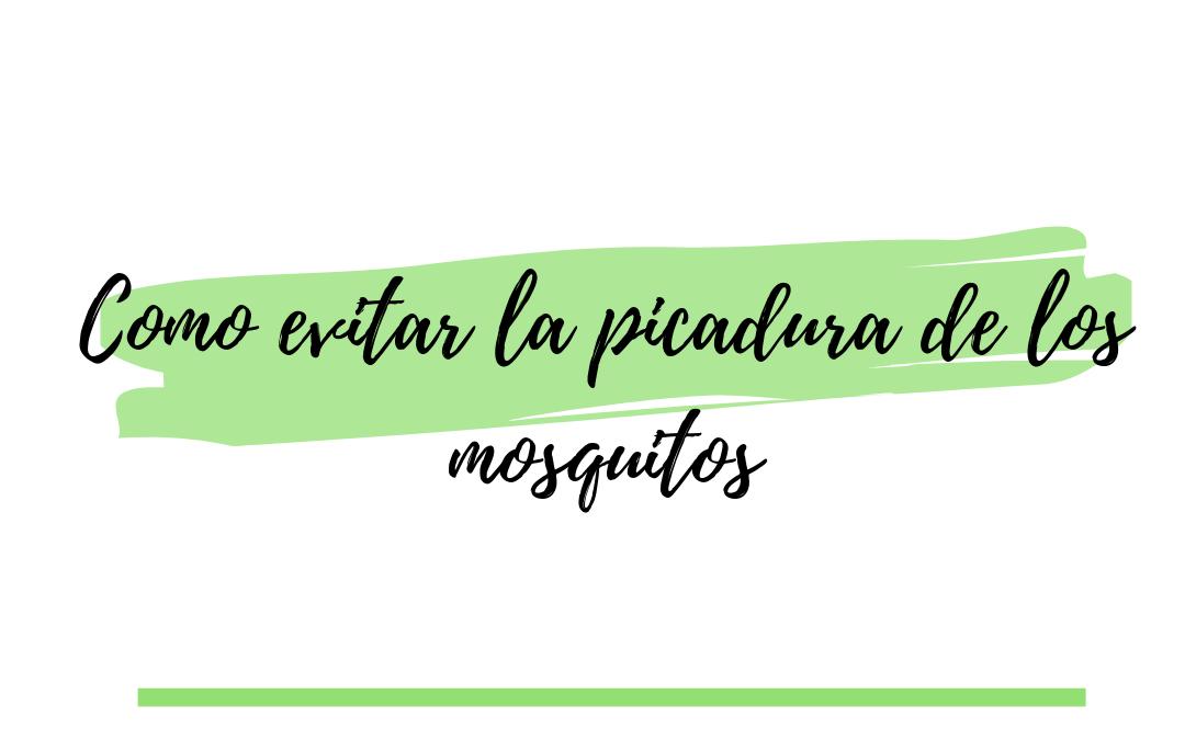 Como evitar la picadura de los mosquitos